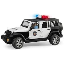 bruder toys logo bruder toys jeep wrangler unlimited rubicon police car with