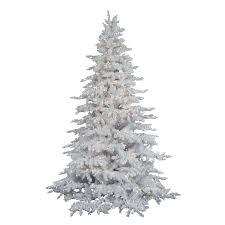flocked artificial tree trees sale clearance at walmart