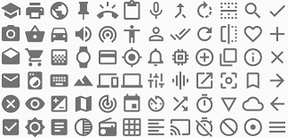 icons style material design