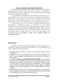 como se reforma la constitucion argentina