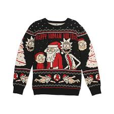 rick and morty happy human sweater