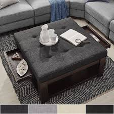 Large Ottoman Coffee Table Best 25 Ottoman Coffee Tables Ideas On Pinterest Diy Throughout
