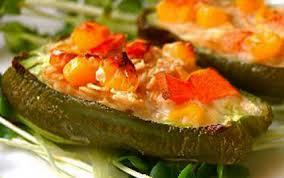 cuisiner poivrons verts recette poivron farci au gratin de légumes crème soja avoine
