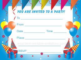 birthday invitations birthday party invitations printable birthday invitation cards amitdhull co