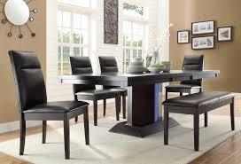 homelegance pulse dining set with led light espresso d2579 78