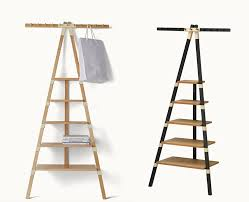 Ladder Bookcase Black by Ideas Contemporary Wall Decorating With Leaning Shelves Design