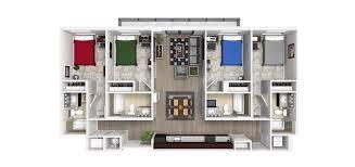 4 bedroom floor plans 4 bedroom 4 bathroom