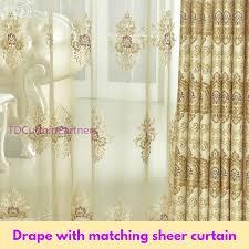 blackout gold sheer drape curtain fabric eyelets pleat hook
