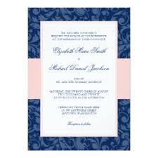 Pink Wedding Invitations Navy And Pink Wedding Invitations U0026 Announcements Zazzle Co Uk