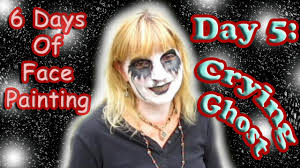 easymeworld halloween crying ghost face painting tutorial