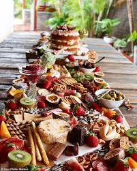 table full of food 4321 best food drink station presentation images on pinterest