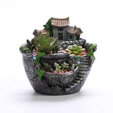 design point micro landscape artificial flowers succulent plants