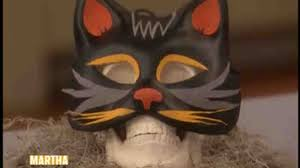 video black cat mask for halloween martha stewart