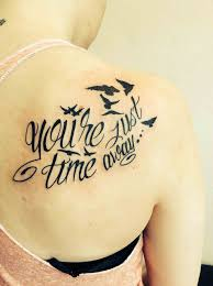 quotes shoulder and tatoo back text