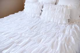 decor home fashion ideas with ruffle bedding and bed pillows also fabulous ruffle bedding for chic bedroom vibe home fashion ideas with ruffle bedding and bed