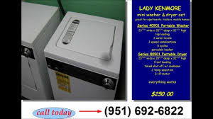 Washer Dryer Enclosure Lady Kenmore Mini Portable Washer And Dryer Set Youtube