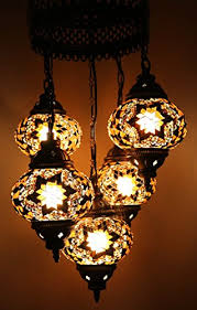 Moroccan Style Chandelier Multicolour Turkish Moroccan Style Mosaic Hanging Lamp Light Hand