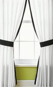 Black Ivory Curtains Enchanting White Curtains With Black Trim And Ivory Curtains With