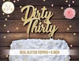 30 cake topper thirty cake topper glitter cake topper 30th 30 cake topper