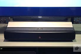 Sound Bar On Top Or Below Tv Q Acoustics M2 Soundbase Hands On Review Digital Trends