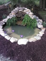 Backyard Small Pond Ideas Very Small Outside Water Features And Ponds For Fish