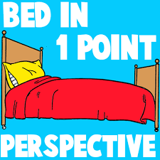 Drawing Of A Bed How To Draw Cartoon Beds In One Point Perspective How To Draw