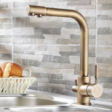 brass kitchen faucet stev antique brass kitchen faucet with water filtering