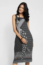 sleeveless dress shop black peacock print sleeveless dress online at global