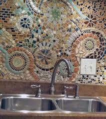 kitchen backsplash mosaic 7 and bold diy mosaic kitchen backsplashes shelterness