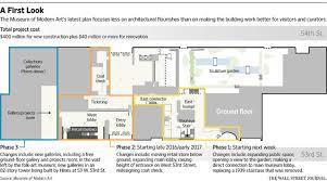 museum floor plans museum of modern art unveils revised expansion plans wsj