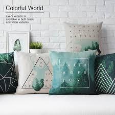 taie d oreiller pour canapé style nordique décoratif taie d oreiller de jet cerfs géométrique