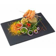 assiette de cuisine assiette ardoise de qualité professionnelle 32x22 on the rocks