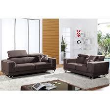 ensemble de canapé ensemble canapé fixe 3 2 places marron en tissu regal ensemble