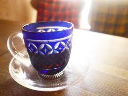 coffee in edo kiriko glass cups a delight for all senses