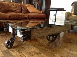 Vintage Coffee Table With Wheels Inspirational Rustic Coffee Table With Wheels For Living Room