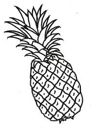110 pineapple outline tiny clipart