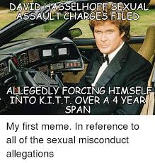 David Hasselhoff Meme - david hasselhoff sexual assaultcharges filed allegedly forcing