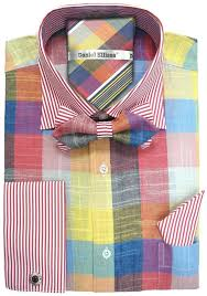 color patterns daniel ellissa men u0027s french cuff dress shirt set multiple color
