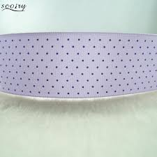 purple satin ribbon 20 yards 25mm 1 dots printed purple satin ribbon 100 polyester