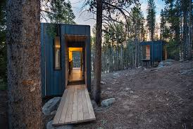 cobs year round micro cabins colorado building workshop archdaily