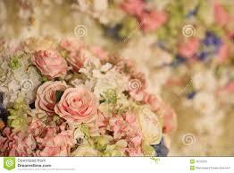 beautiful flower decoration for wedding reception stock image