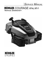 kohler courage xt 6 xt 7 service manual gasoline motor oil