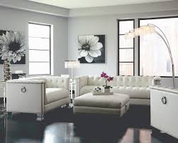 Tufted Sofa Sale by Chaviano Low Profile Pearl White Tufted Sofa Loveseat U0026 Chair Set