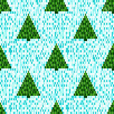 pixel seamless pattern with christmas trees seamless background