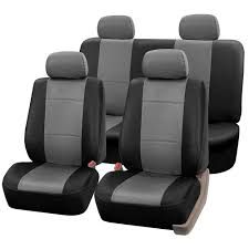 nissan rogue seat covers amazon com fh group universal fit seat cover faux leather gray