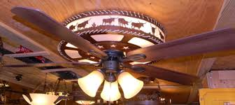 Country Style Ceiling Fans With Lights Iron Works Rustic Western Lighting Inside Ceiling Fans