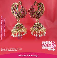 kempu earrings kempu earrings ruby earrings temple earrings