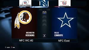 2016 ta2 football playoffs nfc card washington redskins vs