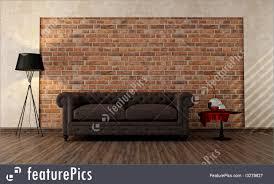 vintage livingroom interior architecture vintage living room stock illustration