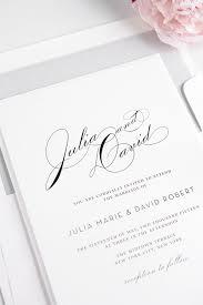 creative of silver wedding invitations vintage typography wedding